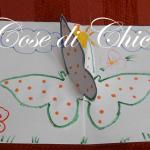 biglietto popup con farfalle