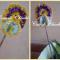 Fiore con farfalla all'uncinetto